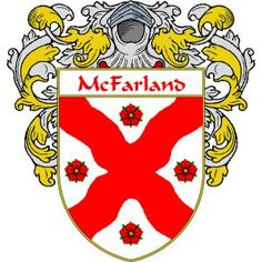 McFarland Coat of Arms   http://irishcoatofarms.org/ has a wide variety of products with your surname with your coat of arms/family crest, flags and national symbols from England, Ireland, Scotland and Wale
