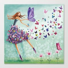 ♥ 'Butterfly Dance'! Canvas Print by Mila Marquis.