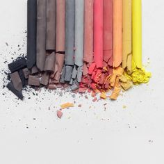 """Crush"" by @presentandcorrect #art #artist #photo #artgallery #gallery #colors #black #gray #brown #orange #red #darkred #yellow #lightgray #chalk #pastelchalk #pastel #pastelcolors"