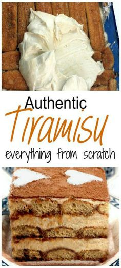 This is the Tiramisu recipe that Italian grandma's make. Insanely creamy, homemade sweet, mascarpone, layered in a pan with espresso (mixed with either rum or kahlua) soaked lady's fingers, PLUS - a white chocolate caramel latte version of Tiramisu! Baking Recipes, Cake Recipes, Dessert Recipes, Food Cakes, Cupcake Cakes, Cupcakes, Bolo Tiramisu, Tiramisu Trifle, Homemade Tiramisu