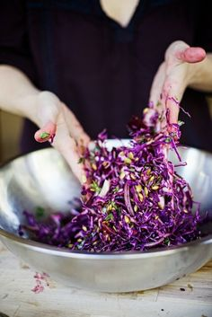 purple cabbage beetroot salad