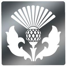 Scottish Thistle Stencil | Embossing Stencil, Scottish Thistle Code: STA-4631