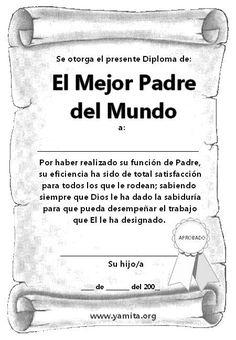 Diploma para el día del Padre - Tarjetas Cristianas