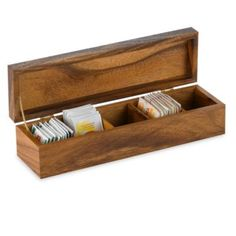 Townhouse Tea Box - BedBathandBeyond.com   Eliminate all the boxes with only  two or three bags left in them.