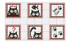 quilting like crazy Cat Cross Stitches, Cross Stitching, Cross Stitch Embroidery, Cross Stitch Patterns, Loom Patterns, Cross Stitch Boards, Tapestry Crochet, Cat Pattern, Embroidery Techniques