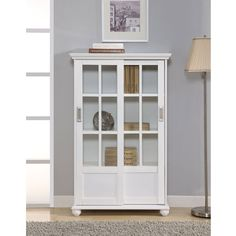 Bedroom (mine): $210 (including s/h) Altra Bookcase with Sliding Glass Doors, White ~ Get from: http://www.bestdealfurniture.com/243-9560196.html  **** Frost windows with leaf pattern.