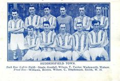 Huddersfield Town team group in Huddersfield Town, 1920s, The Row, Football, Group, Soccer, Futbol, Huddersfield Town A.f.c., American Football