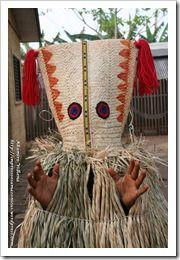 masque rituel du alto-xingu - mato grosso - brasil