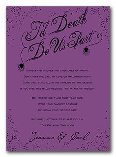 Halloween Wedding Invitations...we Are Doing A Haloween Theme And Everyones  Super Excited