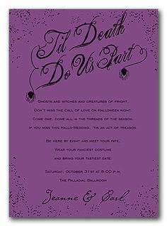 1000 Ideas About Halloween Wedding Invitations On Pinterest