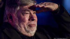 Steve Wozniak, co-founder of Apple Inc. and chief scientist of Primary Data, shields his eye while looking out to the attendees during the TechIgnite conference in Burlingame, California, U.S., on Wednesday, March 22, 2017. The TechIgnite conference brings together industry leaders focused on tackling today's most disruptive technologies. Photographer: David Paul Morris/Bloomberg