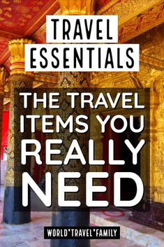 The Vital Items We Wouldn't Travel Without - Travel Essentials – a checklist of travel items for women or men, based on the travel gear and eq - Travel Items, Travel Gadgets, Travel Deals, Travel Books, Vacation Deals, Travel Destinations, Travel With Kids, Family Travel, Family Vacations