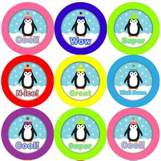Great value with 144 Proud Penguins Stickers per pack, Great for use in the school classroom or at home, Perfect for both teachers and parents to reward Good Behaviour or Marking Work Reward Stickers, Teacher Stickers, Spooky Eyes, Personalized Stationary, Reward System, Teaching Aids, Stars At Night, Child Life, Party Bags