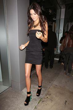 Kendall Jenner in a black dress #KendallJenner #BlackDress