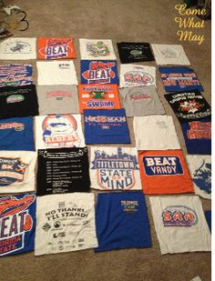 T Shirt Blanket DIY