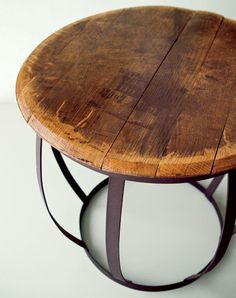 going on the gift list for marcus constructed from makers mark wild turkey and jim beam barrels authentic jim beam whiskey barrel table