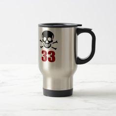 #33 Birthday Designs Travel Mug - #giftidea #gift #present #idea #number #33 #thirty-third #thirty #thirtythird #bday #birthday #33rdbirthday #party #anniversary #33rd