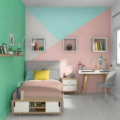 Nice Quel Deco Chambre Ado that you must know, You?re in good company if you?re looking for Quel Deco Chambre Ado Bedroom Colors, Bedroom Decor, Bedroom Wall Designs, Zen Room, Child's Room, Bedroom Vintage, Little Girl Rooms, Room Paint, Girls Bedroom