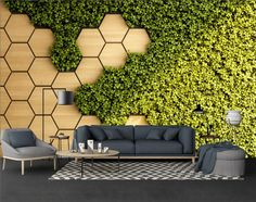 Nature Wallpaper Self Adhesive Peel and Stick Effect Wall Mural Honeycomb and Grass Wallpaper Removable Geometric Wallpaper Living Room Geometric Wallpaper Living Room, Nature Wallpaper, Wall Wallpaper, Wallpaper Designs For Walls, Corporate Office Design, Office Interior Design, Office Wall Design, Green Wall Decor, 3d Wall Decor