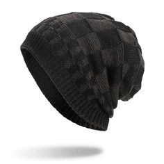 Mens Square Lattice Wool Velvet Knitted Hat Warm Good Elastic Hat Winter Outdoor Casual Beanie is hot sale on Newchic Mobile. New Chic Shoes, Square Lattice, Knit Beanie Hat, Winter Colors, Cotton Style, St Kitts And Nevis, Knitted Hats, Coral, Warm