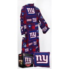 Love!!!!     Amazon.com: Fabrique Innovations New York Giants Pillow Snuggie: Sports & Outdoors