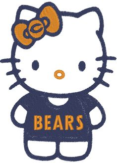 Chicago Bears Hello Kitty T-Shirt Designed by Embellish Star from Embellish Star