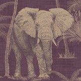 Arthouse Elephant Grove Aubergine and Copper Wallpaper