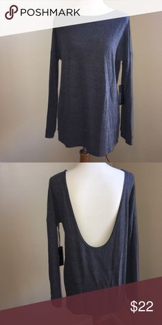 Low scoop back thin sweater NWT, low scoop back sweater Lulu's Tops