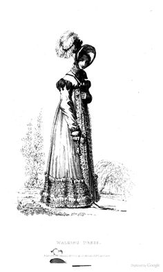 Walking Dress from Ackermann's Repository of the Arts September 1818