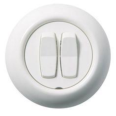 STRÖMBRYTARE SCHNEIDER ELECTRIC WDE006817 RENOVA KRON VIT Honda Logo, Bauhaus, Electric, House, Home, Homes, Houses