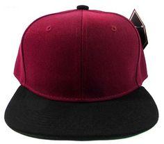 Children's Black and Maroon SnapBack Hat