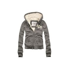 Abercrombie & Fitch > Women > Fleece > Darby ❤ liked on Polyvore featuring outerwear, jackets, tops, hoodies, abercrombie & fitch jacket, abercrombie & fitch and fleece jacket