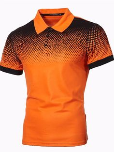 Camisa Polo, Polo Royal, Mode Polo, Orange Mode, Brunei, Plus Size Blouses, Slim Fit, Printed Shorts, Casual Tops