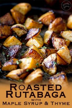 This roasted rutabaga (roasted swede) dish is a wonderful addition to your dinner table. Sweet and fragrant with an earthy note, this side dish will have guest begging for the recipe. Just be sure to cook this for long enough to get the good caramelly bit Vegetable Side Dishes, Side Dishes Easy, Side Dish Recipes, Vegetable Recipes, Vegetarian Recipes, Cooking Recipes, Vegetable Entrees, Swede Recipes, Roasted Rutabaga