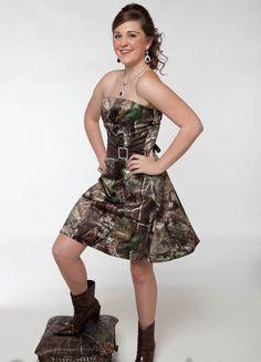 camo  braidsmaid dresses | Camo Prom Dresses Short