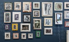 Bilderrahmen aus recyceltem Holz - auf meiner neuen Ladenwand mit Retromustern. Gallery Wall, Images, Frame, Berlin, Home Decor, Pictures, Searching, Recyle, Picture Frame