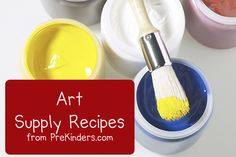 I found this awesome website for Pre-K but it has SO MANY recipes on here. Playdough, different paints, clay, putty, etc. Check it out y'all!