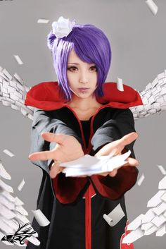 Konan (from naruto) cosplay! Cosplay Anime, Kawaii Cosplay, Naruto Cosplay, Cosplay Konan, Epic Cosplay, Cute Cosplay, Cosplay Makeup, Amazing Cosplay, Cosplay Outfits