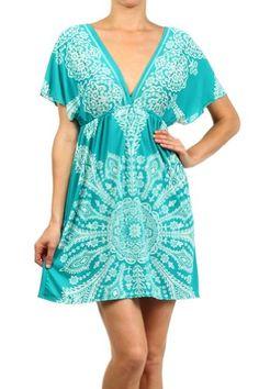 Kiwi Co. Women's Paisley Print V-Neck Kimono Dress - Listing price: $50.00 Now: $28.00