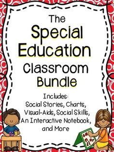 Special Education Bundle - This special education bundle includes great activities for students! This is a must have for the special education classroom at a discounted price! Teaching Special Education, Primary Teaching, Teaching Resources, Gifted Education, Social Skills Activities, Classroom Activities, Classroom Ideas, Inclusive Education, Learning Disabilities