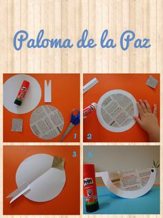 Paloma de la Paz Peace Crafts, Bird Crafts, Easter Crafts, Diy And Crafts, Crafts For Kids, Arts And Crafts, Craft Projects, Projects To Try, Elements And Principles