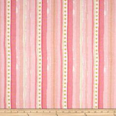 Michael Miller Flannel Sarah Jane Magic Stars And Stripes Pink Golden Tan, Michael Miller Fabric, Cool Fabric, Printing On Fabric, Flannel, Stripes, Magic, Quilts, Stars