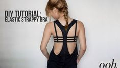 Refashion your old bras which have stretched out and no longer fit well! This DIY strappy bra looks great layered under loose tanks and low back dresses! No more unsightly bra bands and hooks! Look Fashion, Diy Fashion, Ideias Fashion, Fashion Ideas, Old Bras, Backless Shirt, Low Back Dresses, Diy Vetement, Do It Yourself Fashion