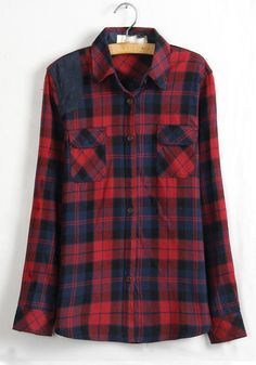 Plaid w/Chambray Accented Shoulder