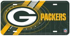 """Green Bay Packers Street Flair Plate by Little Earth. $13.93. Features your favorite team logo. One 12"""" x 6"""" Street flair plate. Made from recycled aluminum. Made in USA. NFL Green Bay Packers Street Flair Plate. Save 48%!"""