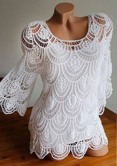 Click to view pattern for - Beautiful white blouse