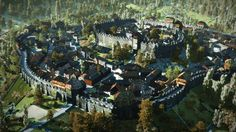 HUGE Medieval Town Minecraft Project Fantasy city Medieval town Fantasy background
