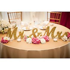 Wooden+MR+&+MRS+wedding+items+Wooden+furnishing+articles+and+gold+glitter+powder+letters+Wedding+supplies+–+EUR+€+37.22