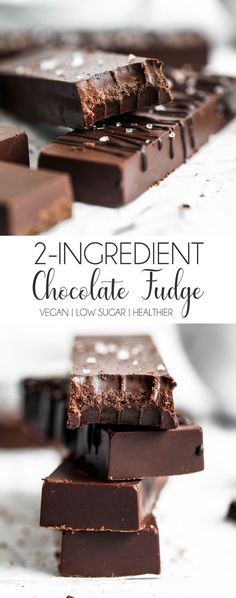 Vegan Chocolate Fudge Dessert recipes really don't come easier than this! vegan chocolate fudge that doesn't requ. Healthy Fudge, Healthy Chocolate Desserts, Chocolate Treats, Vegan Sweets, Healthy Dessert Recipes, Vegan Chocolate, Fun Desserts, Easy Recipes, Best Dark Chocolate Fudge Recipe