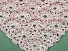Crochet : Punto Soles en V - YouTube